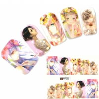Tattoo Nail Art Japan Manga Girl Nagel Sticker