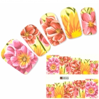 Tattoo Nail Blumen Bl�ten Nelken Nagel Sticker