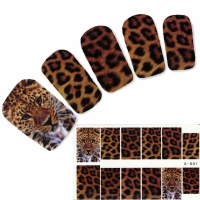 Tattoo Nail Tiger Tigermuster Nagel Sticker