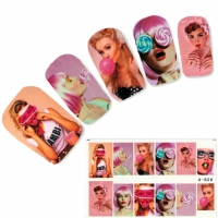 Tattoo Nail Giant Lollipop Teen Nagel Sticker