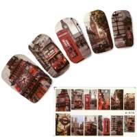 Tattoo Nail London Routemaster englische Telefonzelle Nagel Sticker
