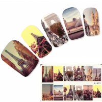 Tattoo Nail Paris Eiffelturm Nagel Sticker