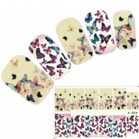 Tattoo Nail bunte Schmetterling Falter Nagel Sticker