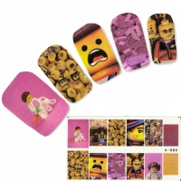 Tattoo Nail Baukl�tze Spielfiguren Nagel Sticker