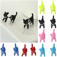 3D Katze Cat Ohrstecker Front Back Ohrringe