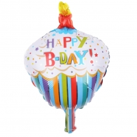 Happy Birthday Folienballon 30 x 25 CM Luftballon