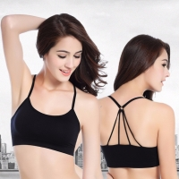 Sport-BH Trägertop Push-Up Bra Yoga