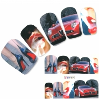 Tattoo Nail Art Rotes Auto Aufkleber Nagel Sticker