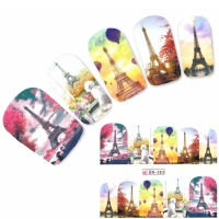 Tattoo Nail Art Eiffelturm Paris Aufkleber Nagel Sticker