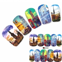 Tattoo Nail Art London Big Ben Aufkleber Nagel Sticker