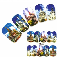 Tattoo Nail Art Schloss Basilius-Kathedrale Aufkleber Nagel Sticker