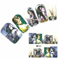 Tattoo Nail Art Japan Manga Girl Fee fairy Nagel Sticker