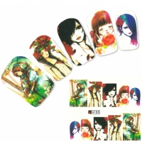 Tattoo Nail Art Japan Manga Girl Hipster Nagel Sticker