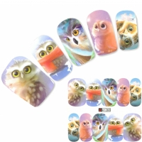 Tattoo Nail Art Eule Uhu Aufkleber Nagel Sticker