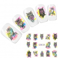 Tattoo Nail Art Eule Uhu Nagel Sticker