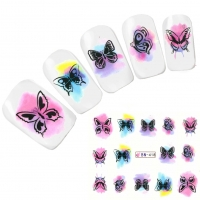 Tattoo Nail Art Schmetterling Butterfly Nagel Sticker