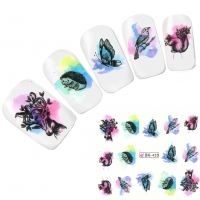 Tattoo Nail Igel Hirsch Vogel Nagel Sticker