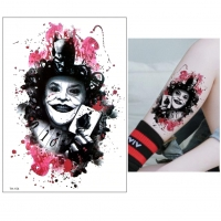 Temporäres Tattoo Joker Design Temporary Klebetattoo Körperkunst