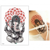 Temporäres Tattoo Krishna Elefant Design Temporary Klebetattoo Körperkunst