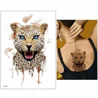 Temporäres Tattoo Tiger Braun Katze Design Temporary Klebetattoo Körperkunst