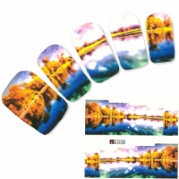 Tattoo Nail Art Landschaft See Aufkleber Nagel Sticker