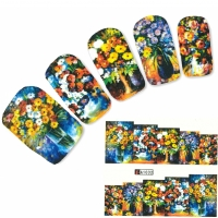 Tattoo Nail Art Blumenstrauß Vase Aufkleber Nagel Sticker