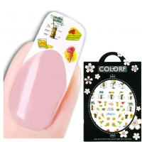 3D Nagel Sticker Nail Art Aufkleber cocktails Eis Zitrone Aufkleber New Design