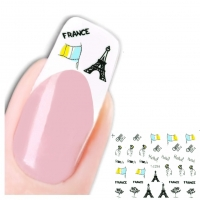 3D Nagel Sticker Nail Art Aufkleber Eiffelturm France Design