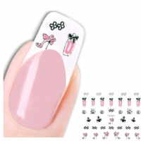 3D Nagel Sticker Nail Art Aufkleber Parfüm Pumps Design